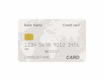 Credit card. Grey credit card template on white background Stock Photo