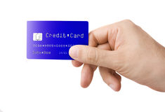 Credit Card in Hand Royalty Free Stock Images