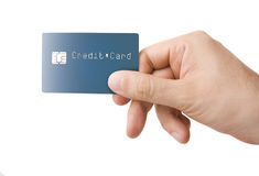 Credit Card in Hand Royalty Free Stock Photo