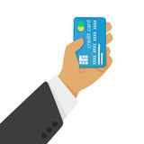 Credit card in hand Stock Photo