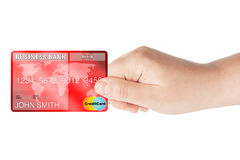 Credit Card in hand Royalty Free Stock Photos