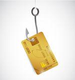 Credit card and hook illustration design Stock Photography