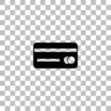 Credit card icon flat royalty free illustration