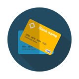 Credit Card Icon Flat Concept Vector Illustration Royalty Free Stock Photo