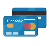 Credit card icon, flat design. Bankcard isolated on white background Royalty Free Stock Photos