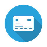 Credit card Icon. Credit card Glyphs Shadow Icon Royalty Free Stock Image