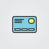 Credit card icon. Illustration  on white background for graphic and web design. Credit card icon. Illustration  on white background for graphic and web design Royalty Free Stock Photography