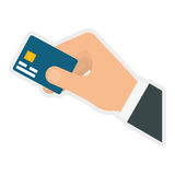 Credit card icon. Money and Financial item. Vector graphic. Money and Financial item concept represented by credit card icon. isolated and flat illustration Royalty Free Stock Photo