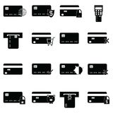 Credit card icon set. The credit card icon set Royalty Free Stock Images