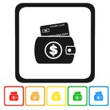 Credit card icon,sign,3D illustration,best icon. Credit card icon,best 3D illustration Royalty Free Stock Photos