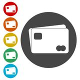 Credit Card Icon. Vector icon royalty free illustration