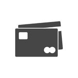 Credit Card Icon. Vector icon Stock Images