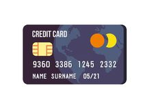 Credit Card Icon. Stock Images
