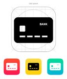 Credit card icon. Vector illustration Royalty Free Stock Photography