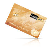 Credit Card. Icon  on white Stock Photos