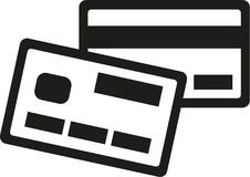 Credit Card icons. Money vector royalty free illustration