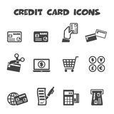Credit card icons Stock Photo