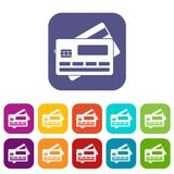 Credit card icons set Stock Image