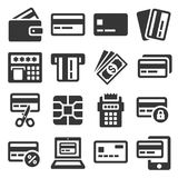 Credit Card Icons Set on White Background. Vector. Illustration Stock Photo