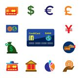 Credit card icons Stock Images