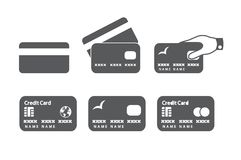 Credit card icons royalty free stock images