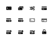 Credit card icons on white background. Vector illustration Royalty Free Stock Photo