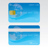 Credit card illustration Stock Image