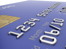 Credit card illustration Royalty Free Stock Photography