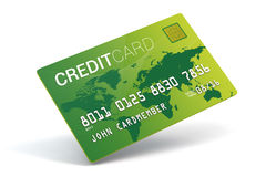 Credit card imitation royalty free stock photography