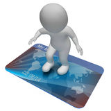 Credit Card Indicates Bankrupt Poverty And Shopping 3d Rendering Stock Image