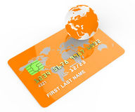 Credit Card Indicates Commerce Retail And Buyer Royalty Free Stock Image