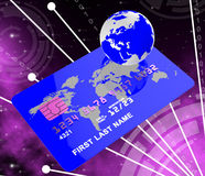 Credit Card Indicates Global World And Payment Royalty Free Stock Photos