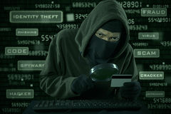 Credit card information theft Stock Photos