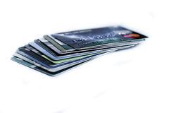 Credit card isolated Stock Images