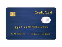 Credit card isolated over white background Stock Photography