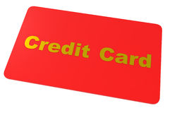 Credit Card isolated on white Stock Photos