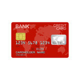 Credit card isolated on white background Royalty Free Stock Photos