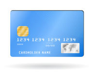 Credit card isolated on white. Credit card, vector illustration isolated on white Stock Images