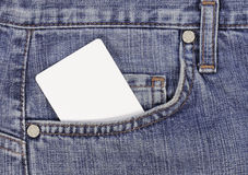 Credit card in jeans pocket Stock Photo