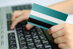 Credit card and keyboard Stock Images