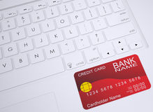 Credit card on the keyboard Stock Image