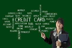 Credit Card Keywords Royalty Free Stock Images
