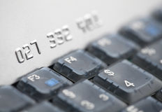 Credit card and laptop Royalty Free Stock Images