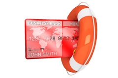 Credit Card with lifebuoy Stock Images
