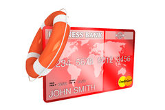 Credit Card with lifebuoy Royalty Free Stock Photos