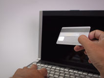 Credit card , On-line shopping Royalty Free Stock Photography