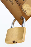 Credit Card and lock. Royalty Free Stock Photography
