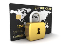 Credit card and lock Royalty Free Stock Photography