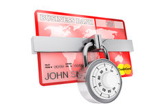 Credit Card with Lock Stock Image