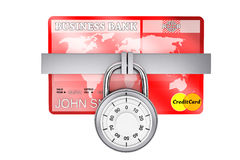Credit Card with Lock Stock Photography